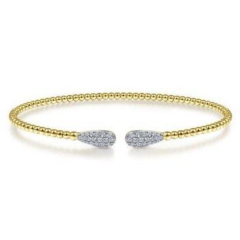 14K Gold Diamond Cuff Bracelet