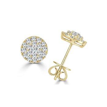 14K Gold & Diamond Stud Earrings