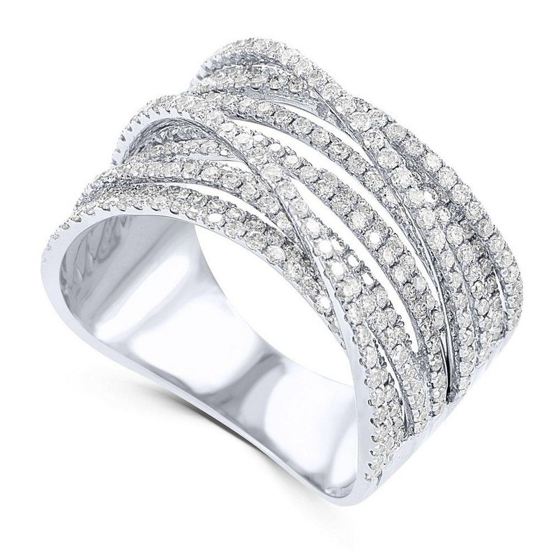 14K Gold Multiple Diamond Band Fashion Ring