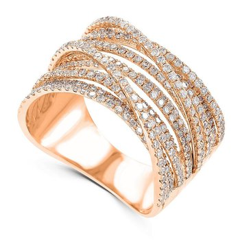 14K Gold Multiple Diamond Band Fashion Ring