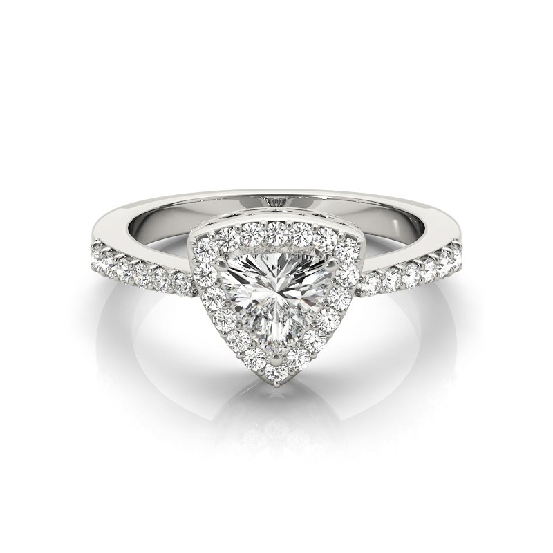Modern Trillion Diamond Engagement Ring Mounting