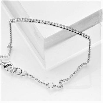 14K Gold Diamond Bar Bracelet