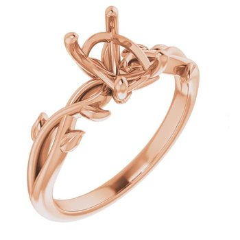 14K Rose Gold Floral Mounting