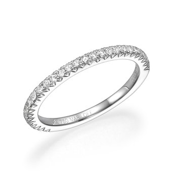 18K White Gold Straight Wedding Band