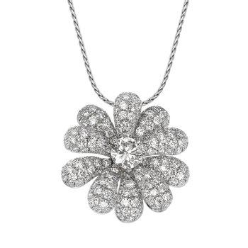 Pave Flower Pendant