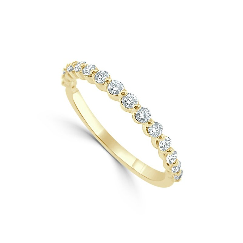 14K Gold Shared Prong Diamond Band