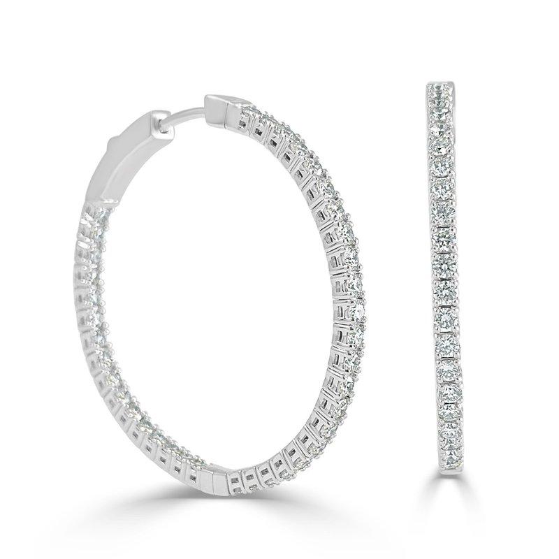 14K Gold 1.25 Inch Flexible Diamond Hoop Earrings