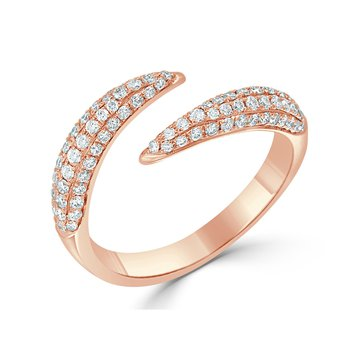18K Gold Bypass Diamond Fashion Ring