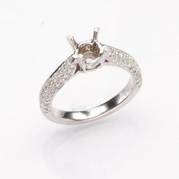 18K White Gold .51 Ctw Engagement Ring Mounting