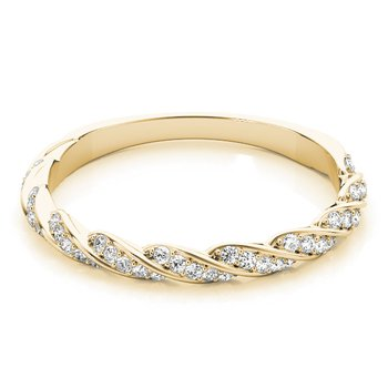 Delicate Twist Diamond Band