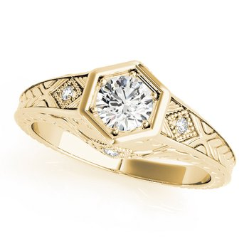 Vintage Inspired Filigree Engagement Ring Mounting