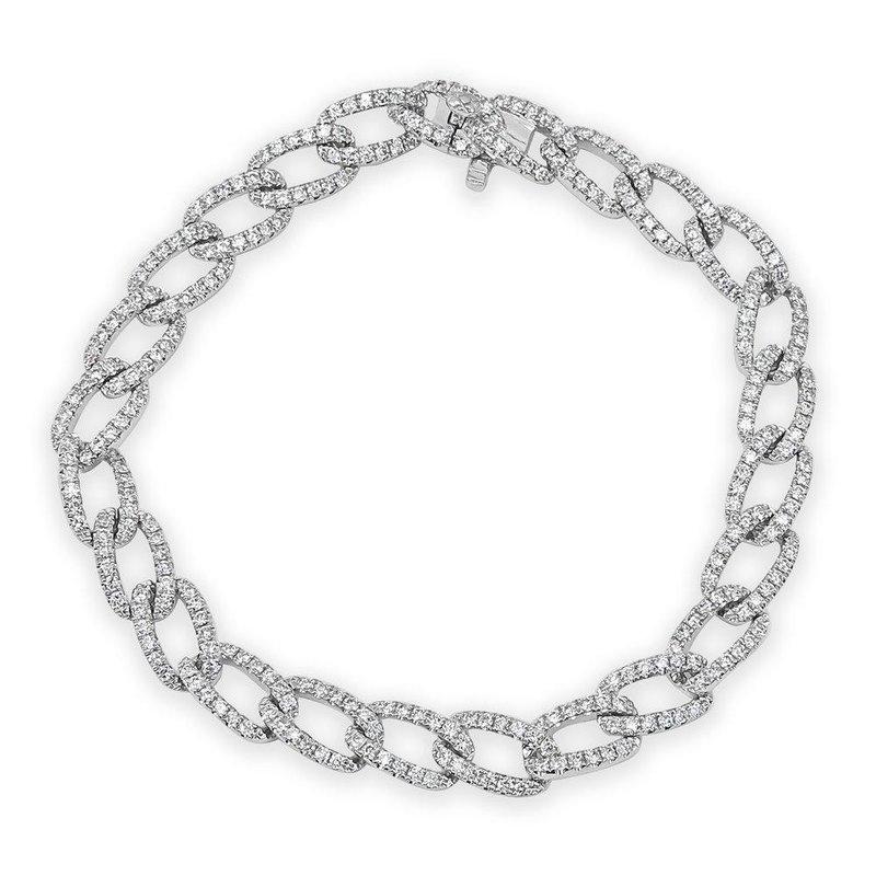 18K Pave Diamond Chain Link Bracelet