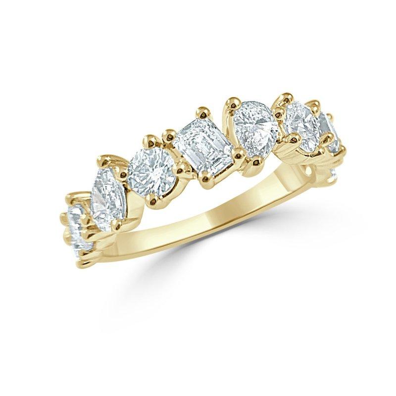 14K Gold Fancy Shape Diamond Band