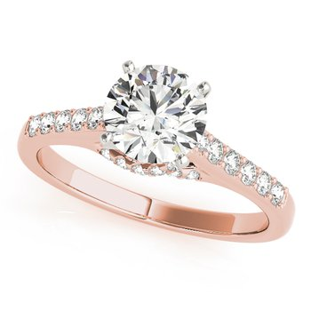 Classic Prong Cathedral Engagement Ring Mounting
