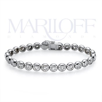 14K Bezel Set Diamond Bracelet
