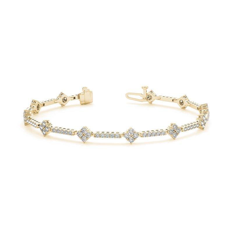 Alternating Design Tennis Bracelet