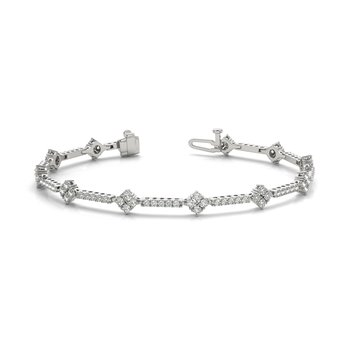 Alternating Design Tennis Bracelet