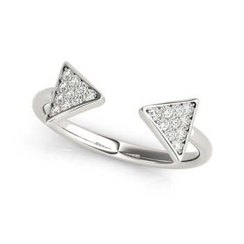 Modern Arrow Diamond Fashion Ring