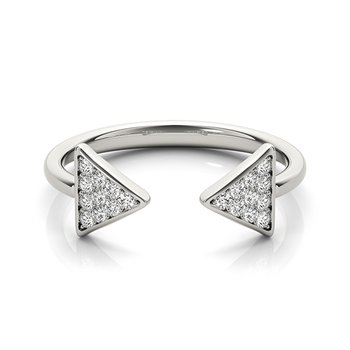 Modern Arrow Diamond Fashion Ring