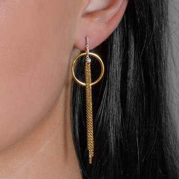 14K Modern Dangle Earrings