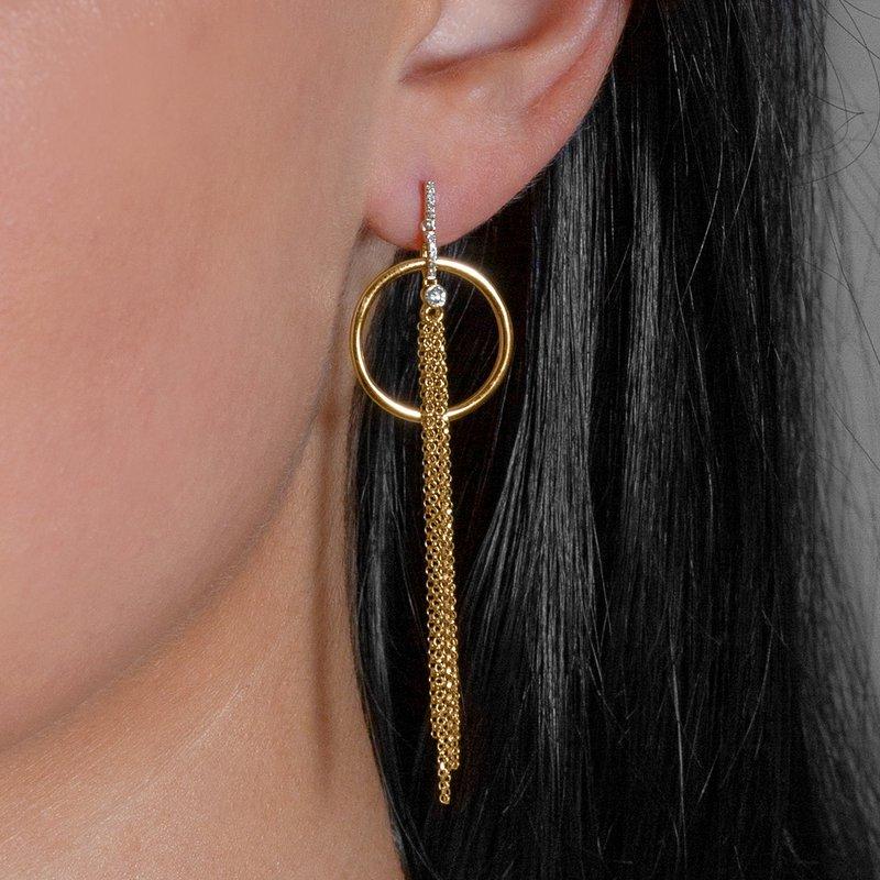 14K Modern Dangle Earrings