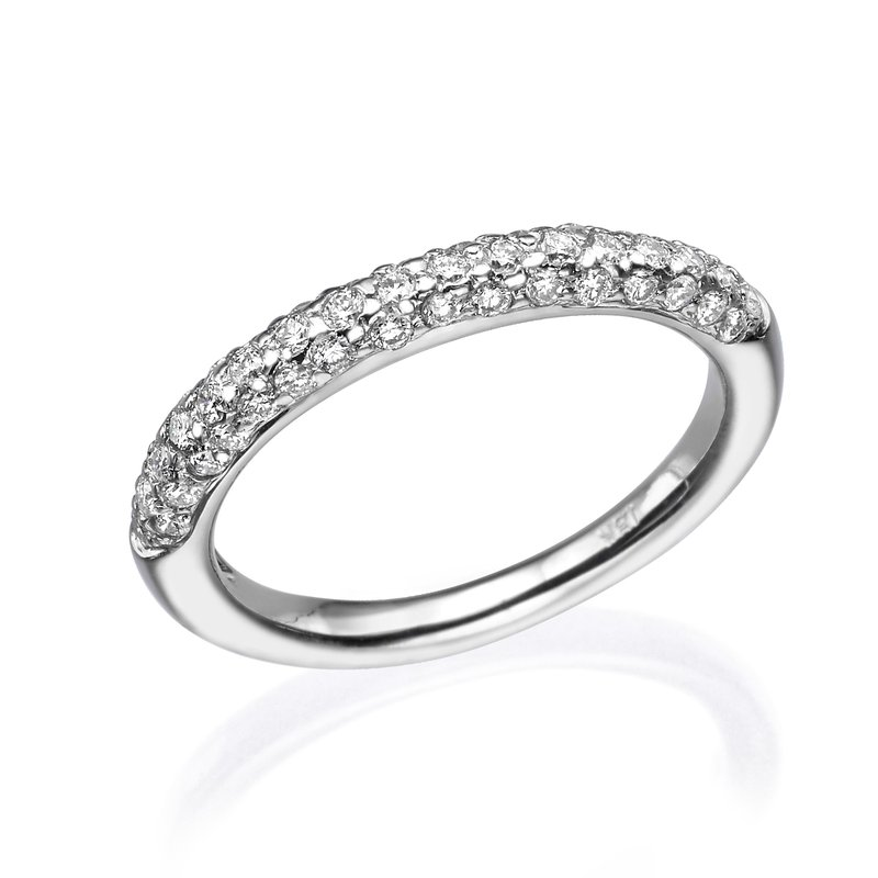 Lovely Pave Style Wedding Band