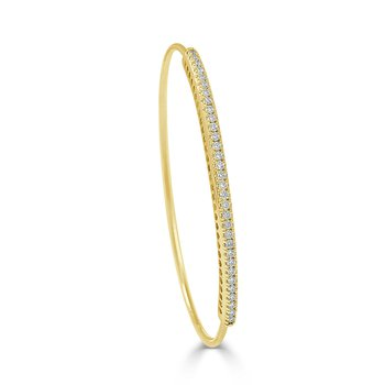 14K Gold Diamond Bangle Bracelet