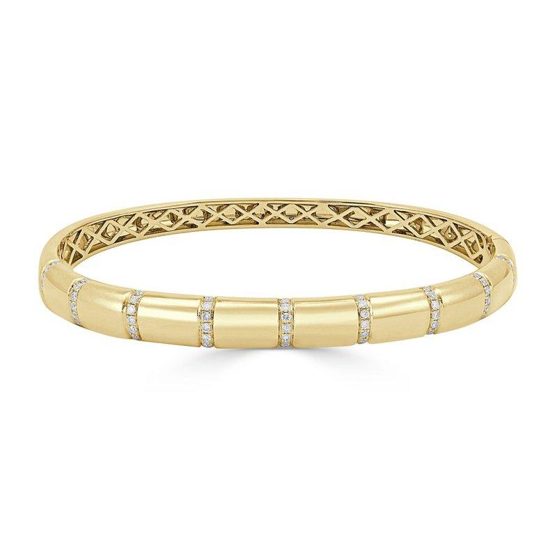 18K Gold Bangle Diamond Bracelet