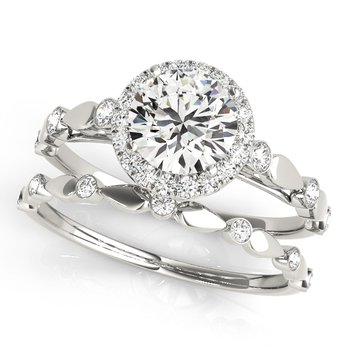 Diamond Halo Scalloped Band Mounting