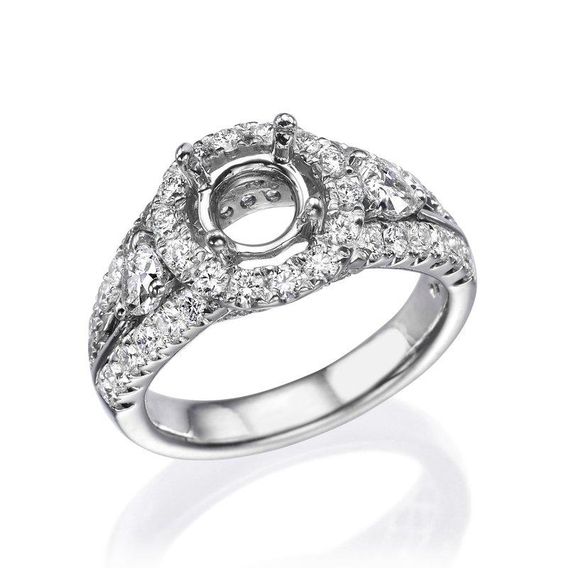 Platinum Halo Diamond Engagement Mounting