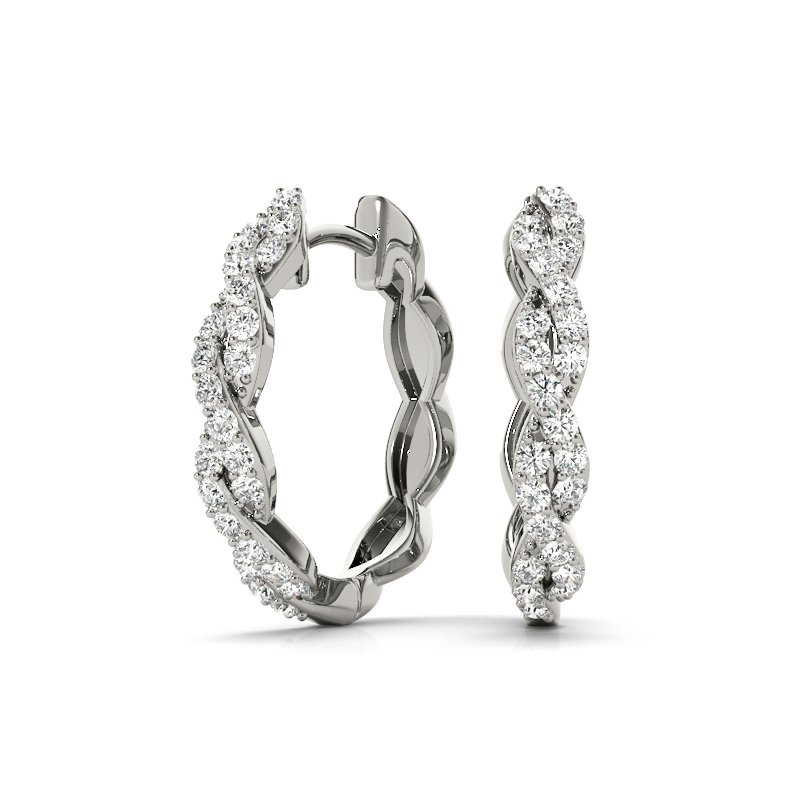 Twisted Small Hoop Earrings