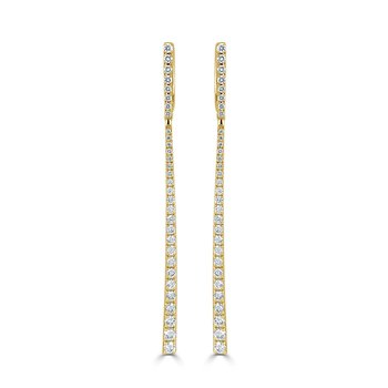 14K Gold & Diamond Dangle Earrings