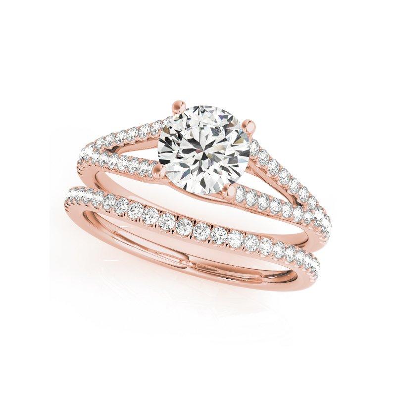 Split Band Prong Set Engagement Ring Mounting