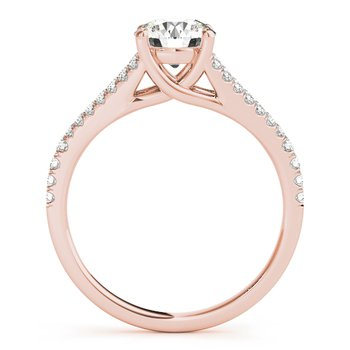 Split Band Prong Set Engagement Ring Mounting