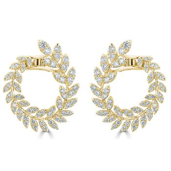 18K Gold Diamond Reef Earrings