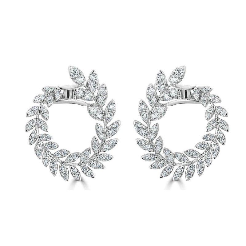 18K Gold Diamond Reef Earrings