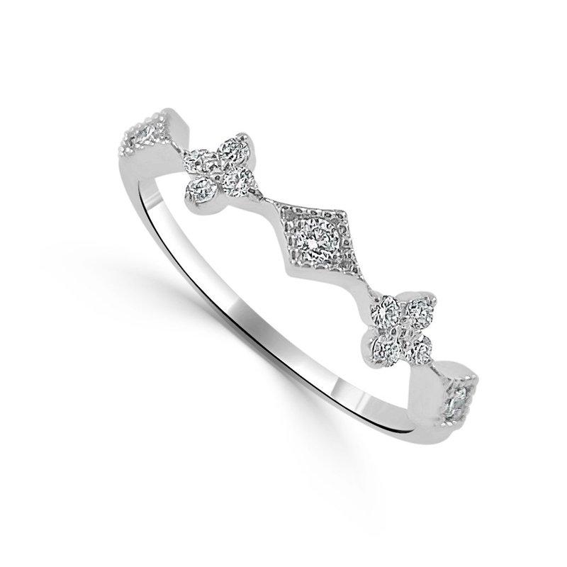 14K White Gold Vintage Diamond Ring
