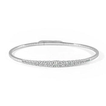 14K Gold Graduating Diamond Bracelet