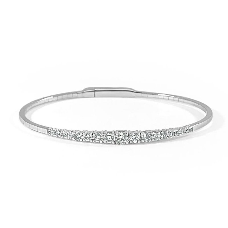 14K Gold Graduating Diamond Bracelet