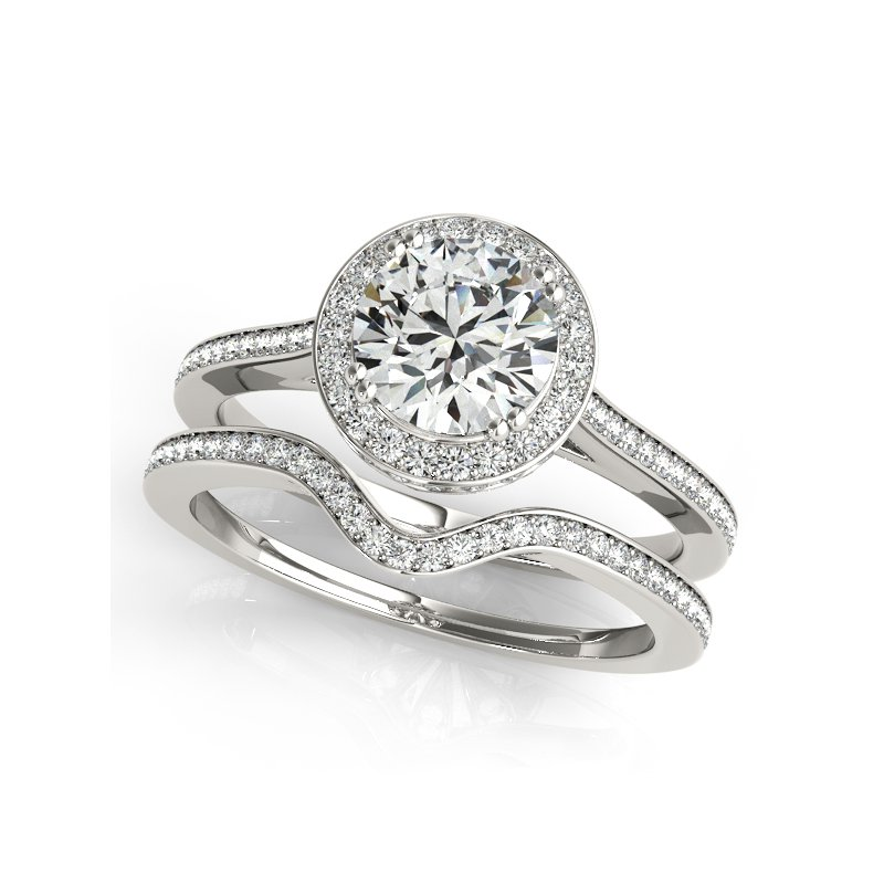 Delicate Halo Engagement Ring Mounting