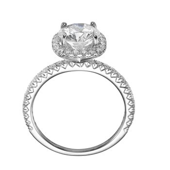18K White Gold Delicate Halo Mounting