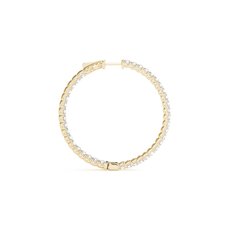 4ct Inside-Out Diamond Hoops