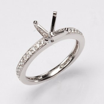 18K White Gold .33Ctw Diamond Mounting