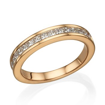 18K Rose Gold .69Ctw Wedding Band