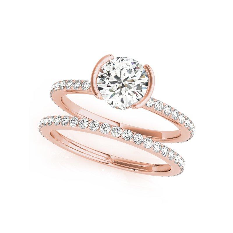 Half Bezel Delicate Diamond Mounting