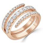 18K Gold Multiple Diamond Band Ring