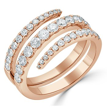 18K Gold Multiple Diamond Band Ring