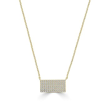 14K Gold Diamond Geometric Pendant