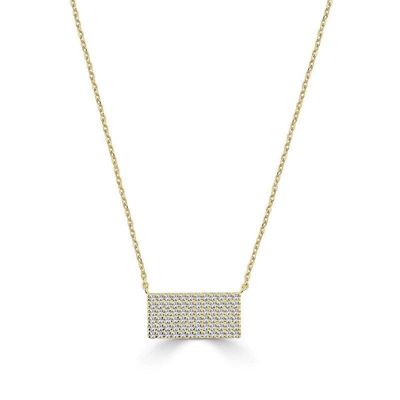14K Gold Diamond Geometric Pendant