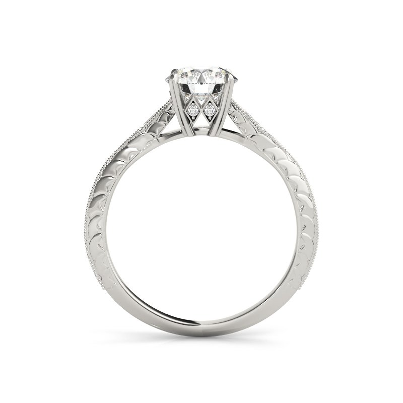 Vintage Inspired Milgrain Engagement Ring Mounting